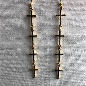 NWOT CC SKYE Cross Earrings